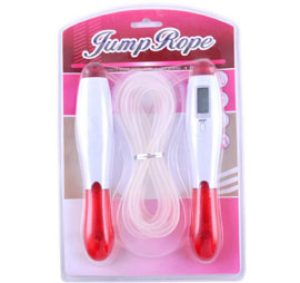 Skipping Rope with Electronic Counter for Kids- Red