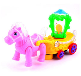 Musical Horse with Carriage Toy