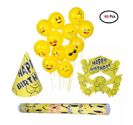 SmartCraft Smiley Birthday Kit - Pack of 46