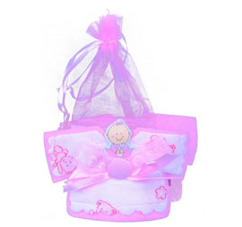 Baby Shower Favors Kit 12 Baby Shirt- Pink