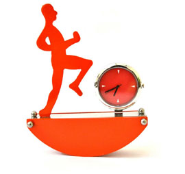 Table Paper Weight with Clock - Orange