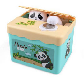 Automated Cute Panda Steal Coin Piggy Bank - Multicolor