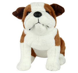 Wild Republic Bull Dog Soft Toy 12